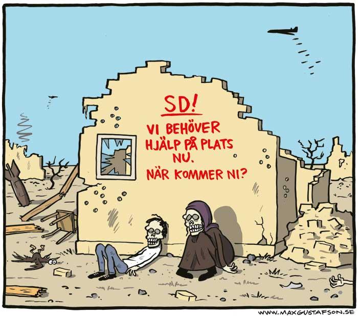 Humanitärt bistånd från Sverigedemokraterna. Av Max Gustafson