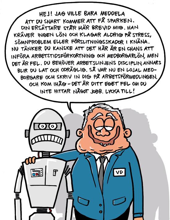 Om robotiseringen. Av Max Gustafson.