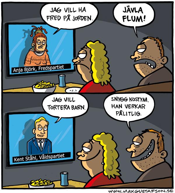 Om att döma efter utseende. Satir av Max Gustafson.