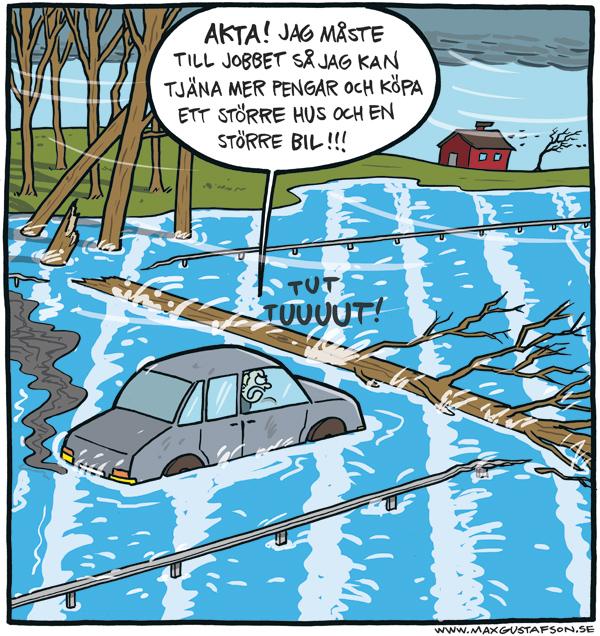 Naturen vill sätta stopp för din karriär! - Teckning av Max Gustafson.
