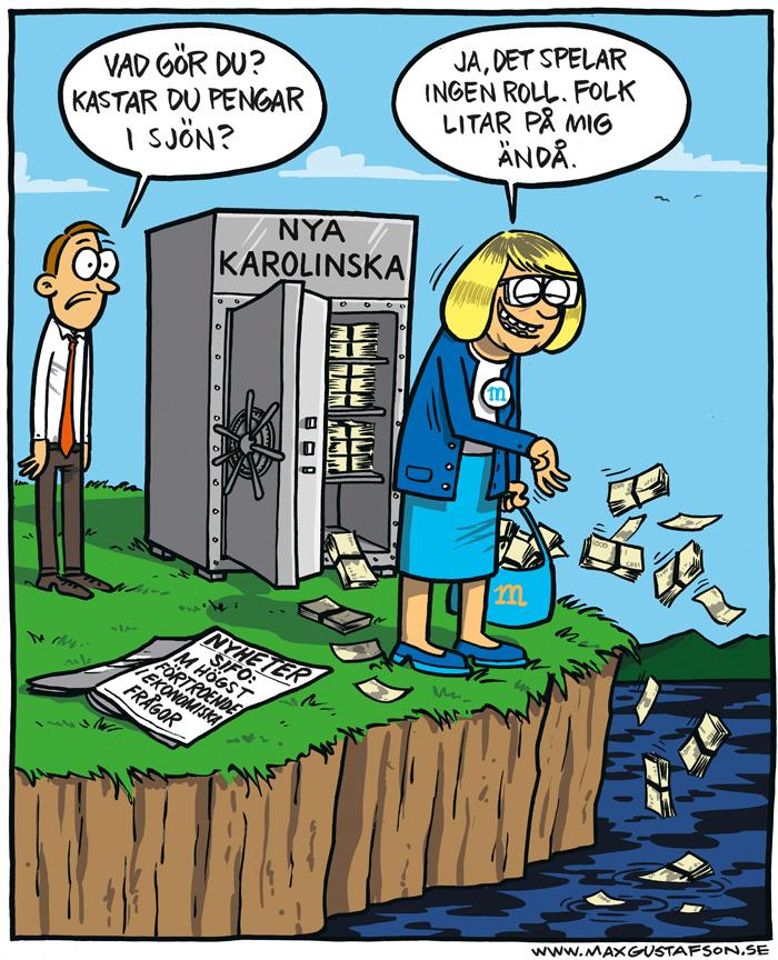 Inget kan rubba en grundmurad tillit. Satir av Max Gustafson.