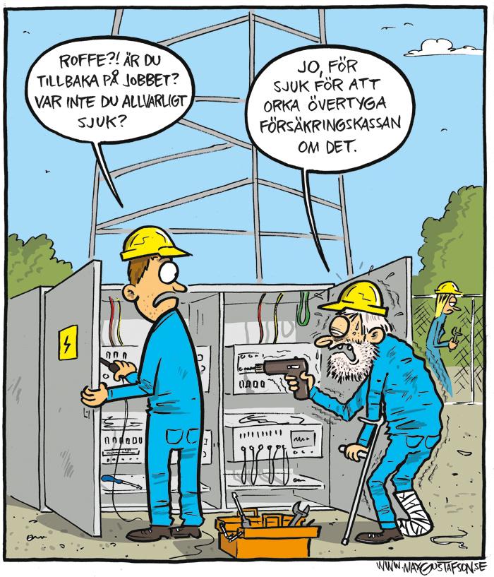Satirteckning av Max Gustafson