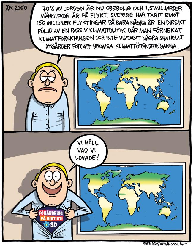 Det sverigedemoktratiska framtidslöftet. Av Max Gustafson