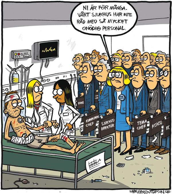 Hur skulle vården klara sig utan alla konsulter och managementfolk?