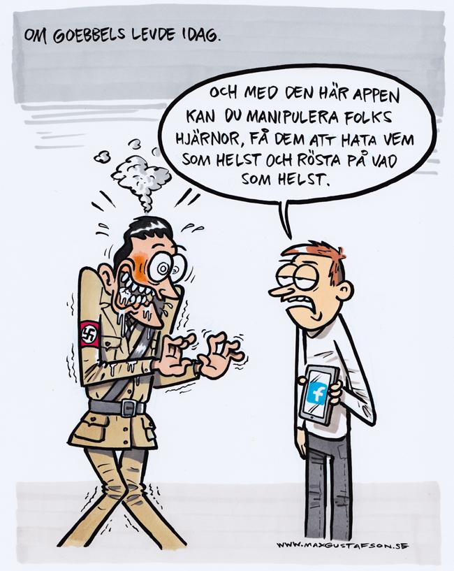 Diktatorernas våta dröm. Satirteckning av Max Gustafson